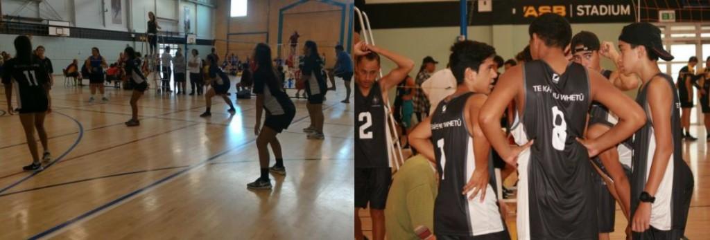 senior boys and girls volleyball teams