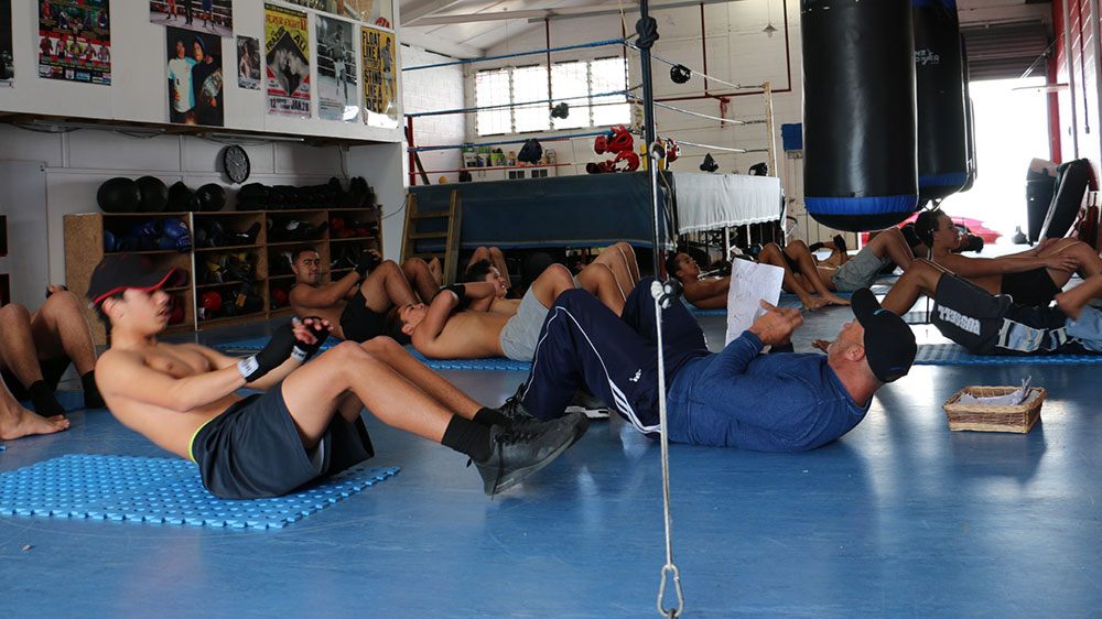 cadets boxing training
